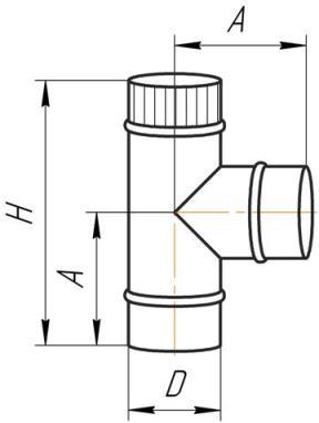Схема тройника