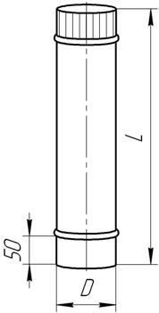 Схема одностенной трубы